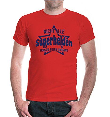 buXsbaum® T-Shirt Nicht alle Superhelden tragen einen Umhang Red-Navy
