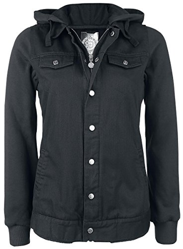 R.E.D. by EMP Mixed Denim Jacket Giacca di jeans donna grigio/nero XXL