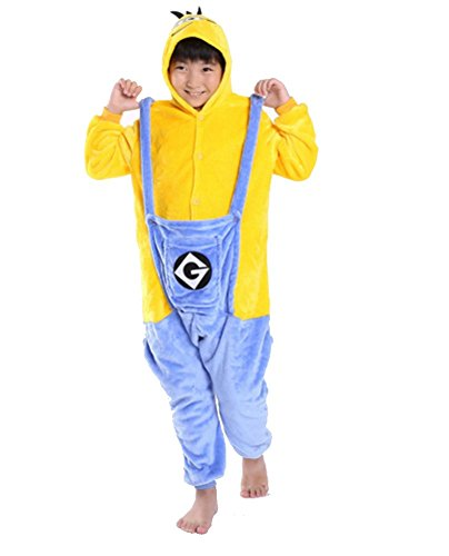 kigurumi pigiami animali da bimibi bambini tuta costume carnevale Halloween festa cosplay unisex-XXS/2-3years-Minions