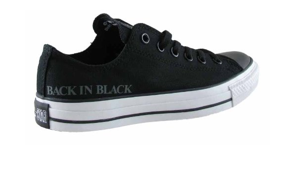 CONVERSE OX ACDC BACK IN BLACK BLACK