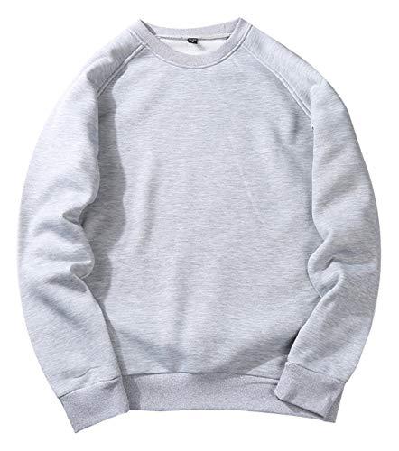 PIZOFF Unisex einfarbiger Pullover Übergrößen AM029-gray-M