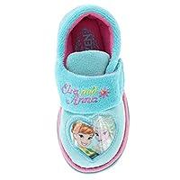 Girls Disney Frozen Elsa Anna Olof Winter Slippers Shoes Pink Aqua Children