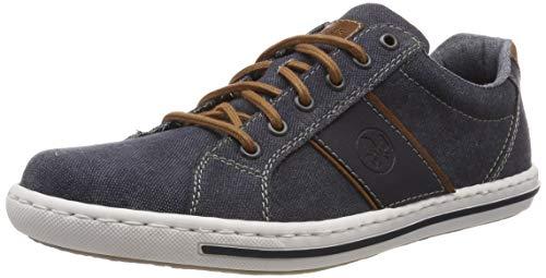 Rieker Herren 19011-14 Sneaker, Blau (Navy/Amaretto/Navy 14), 44 EU