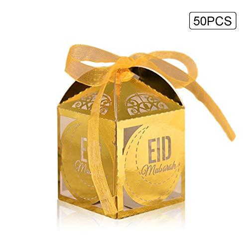 Eid al-Fitr Candy Box Mubarak Hochzeit Candy Box Hochzeit Candy Box Mit Band Klassische Thema Party Hochzeit Jubiläum 50 STÜCKE