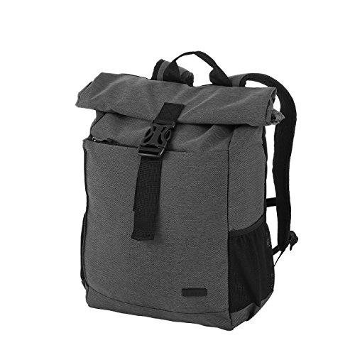 Rada Roll-Top Rucksack RS/27, stylischer Tagesrucksack aus wasserabweisendem Polyester, Schulrucksack für Jungen und Mädchen, Daypack in verschiedenen Farben (32x42x12cm) (anthra)