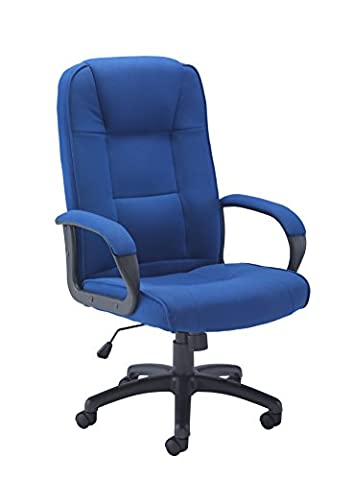 Office Hippo Dynamo Executive High Back Fabric Desk Office Chair With Upholstered Arms - Royal Blue