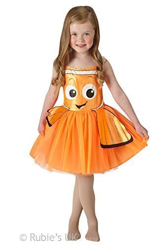 Imagen de niña rubies disney encontrar dory o nemo tutú infantil disfraz  naranja, 5 6 años