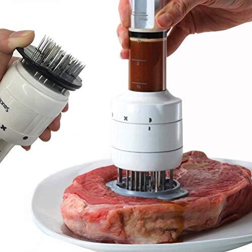 Ablandador de carne y jeringa de cocina 2 en 1