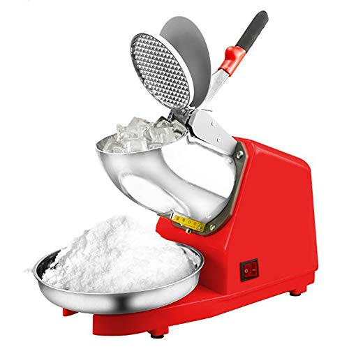 Ice Crusher, Doppelklinge Hochleistungs-Elektro-Edelstahl-Schneekegel-Hersteller-Maschine Ice Blender Chopper Shaver Tool, für Home Commercial Kitchen (Blender Chopper Und)