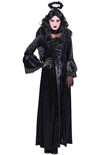Hexen-Kleid in schwarz | Todes-Engel-Kostüm für Damen (M) (Engel Des Todes Kostüm Damen)