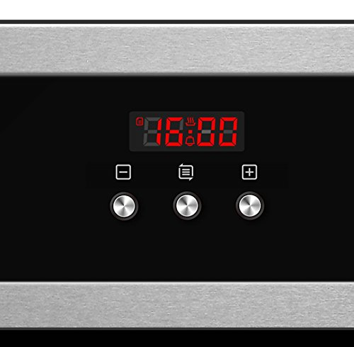 41 xAzF%2BeSL - Cookology Built-in Electric Single Fan Oven in Stainless Steel with Programmable Timer & Digital Clock | COF605SS
