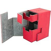 Ultimate Guard Flip'n'Tray Deck Case 80+ Standard Size XenoSkin Red Ultimate Guard
