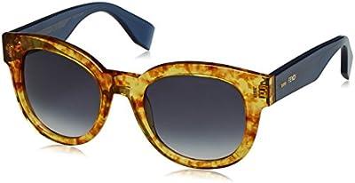 Fendi FF 0026/S JJ, Gafas de Sol para Mujer, Vntambr Bluee, One Size