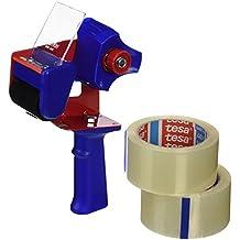 Tesa 57195-00000-01 - Precintadora con 2 rollos transparentes, 66 m x 50 mm