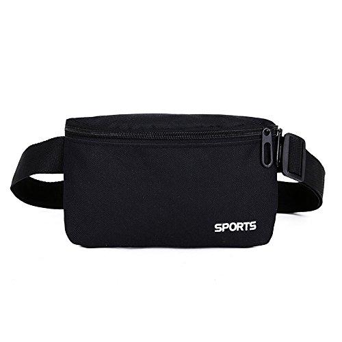 Beikoard borsa a tracolla per borsa a tracolla in stoffa di colore neutro di puro colore sport all'aria aperta(nero)