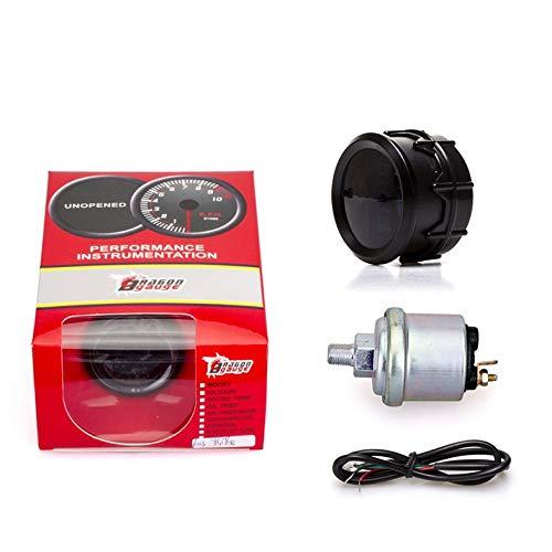 52 Mm Auto Modifikation Instrument Öldruck Digitalanzeige Meter Mit Öldrucksensor 0~150 Psi - Schwarz