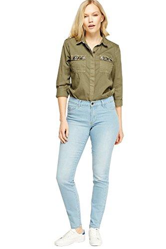 809ce995 Ex Zara Ladies New Woman Sand wash Denim Spandex Summer Jeans Slim Fit  Trouser