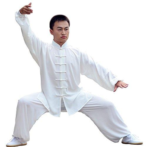 E-bestar tai chi abbigliamento con seta cotone per donna uomo unisex modelli gong fu arti marziali tai chi abiti abbigliamento (s)