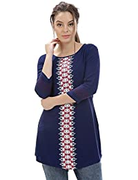 Identiti Women's Kurta(558-74121-05_Blue_Medium)