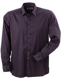 JAMES & NICHOLSON - chemise manches longues stretch - repassage facile - JN193 - Homme