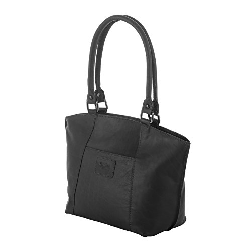 Rada Nature Kurzgrifftasche 'Mackay' echt Leder Handtasche in verschiedenen Farben (schwarz)