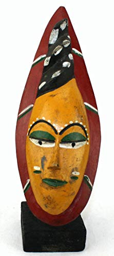 afriqueartdecoration.com Masque Passport Ancien sur socle-7826