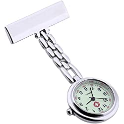 Gleader Nurse Doctor Brooch Pocket Fob Pendant Quartz Watch New