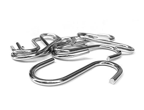8 Stk. S-Haken Kleiderhaken Garderobenhaken Haken für Kleiderstange oder Garderobe