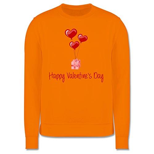 Valentinstag - Happy Valentine's Day Geschenk Herz Luftballon - Herren Premium Pullover Orange