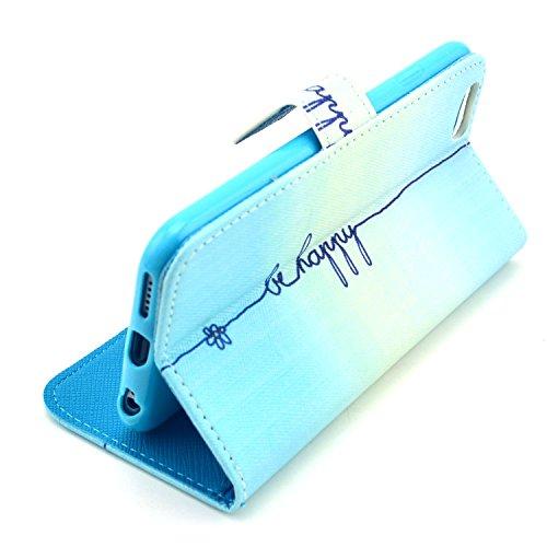 """MOONCASE iPhone 6 Case Motif Conception Coque en Cuir Portefeuille Housse de Protection Étui à rabat Case pour iPhone 6 (4.7"""") P62"""