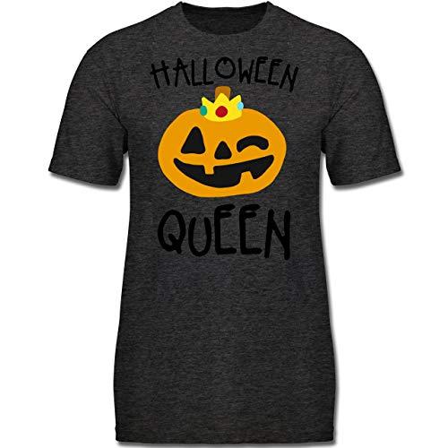 Anlässe Kinder - Halloween Queen Kostüm - 116 (5-6 Jahre) - Anthrazit Meliert - F130K - Jungen Kinder (Halloween Kostüme Ideen Für Gruppen Von 5)