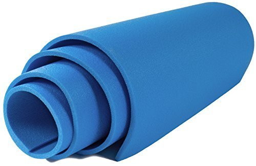 Isomatte 180x50cm Campingmatte Fitnessmatte Gymnastikmatte Turnmatte Yogamatte , Farbe:blau
