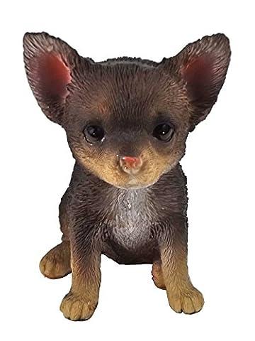 Chihuahua Hund Deko Garten Tier Figur Chiwawa Terrier Skulptur Statue