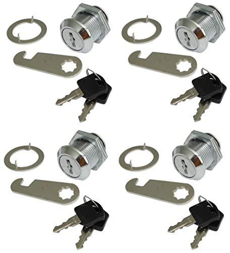 AERZETIX: 4 X Arretierungen Schlösser und Schlüssel für Briefkasten-Tür C41402