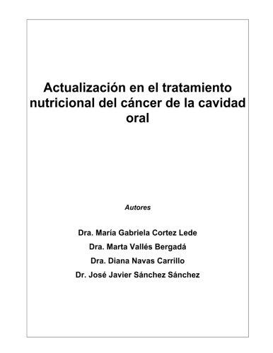 Actualizacion en el tratamiento nutricional del cancer de la cavidad oral