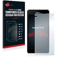 Savvies Protector Cristal Templado para Sony Xperia Z1 Compact D5503 Protector Pantalla Vidrio - Dureza 9H