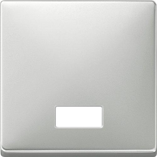 Merten 411846 Wippe mit rechteckigem Symbolfenster, Edelstahl, System Fläche