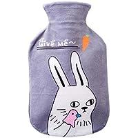500ml weiche Fleece-Abdeckung + klassische Gummi-Wärmflasche (zufällige Farbe), Kaninchen preisvergleich bei billige-tabletten.eu