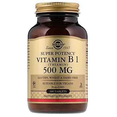 Solgar, Vitamin B1 (Thiamin), 500mg, 100 Veg.Tabletten - Vegan