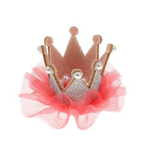 Blumenmädchen Kinder Geburtstagsparty Spitze Krone Tiara Haarband Haarspangen - Silber