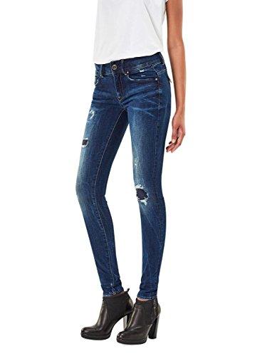 g star midge cody skinny G-Star Damen Jeans Midge Cody Mid Waist - Skinny Fit - Blau - Dark Aged Restored, Größe:W 27 L 32;Farbe:Dark Aged Restored (7351)