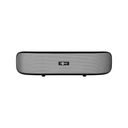 Goobay SoundBar 6W Stereo Lautsprecher für PC, TV und Notebook, schwarz Mini Laptop Lautsprecher
