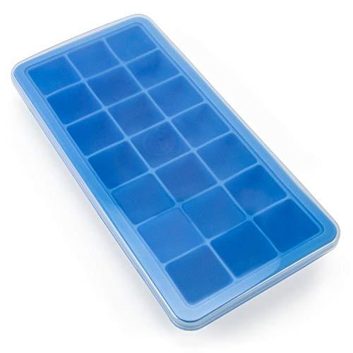 21Slot Eiswürfelform, mit Deckel-BPA-, PVC- und phthalatfrei wiederverwendbar Silikon Form mit auslaufsicherem Deckel von kÿchen -