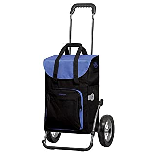 Andersen shopping trolley Royal Wismar black Aluminium frame with metal-spoked wheels and bag Wismar black 45 Litre with Thermal compartment