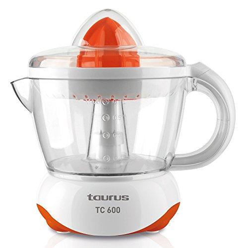 Taurus TC 600 Exprimidor 40 W, 0.7 litros, 0 Decibelios, PU, Naranja, Blanco