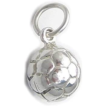 Football Player sterling silver charm .925 x 1 Soccer players charms SSLP1585