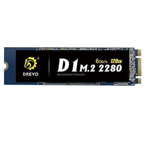 Foto DREVO D1 SSD da 120 GB Unità a Stato Solido SATA 3.0 6Gb/s, M.2 2280, Garanzia di 3 Anni