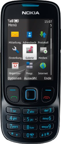 Nokia 6303 classic matt black (Kamera mit 3,2 MP, MP3, Bluetooth) Handy