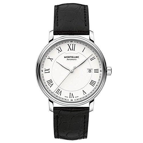 7 - Montblanc Watches Reloj Analógico para Hombre de Automático con Correa en Cuero 112609