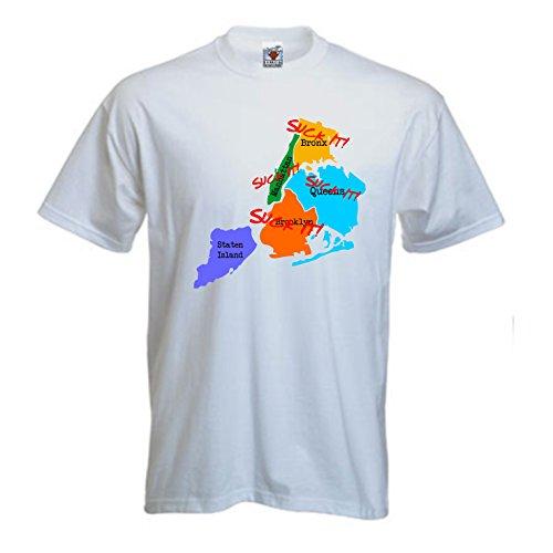 Bullshirt Herren SUCK IT New York T-Shirt. weiß